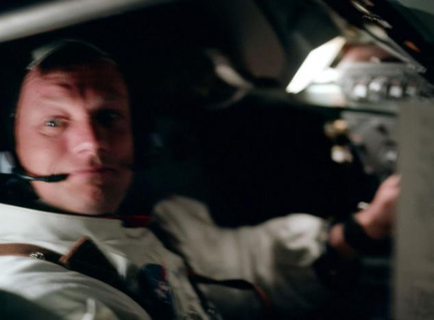 Neil Armstrong in the space ship