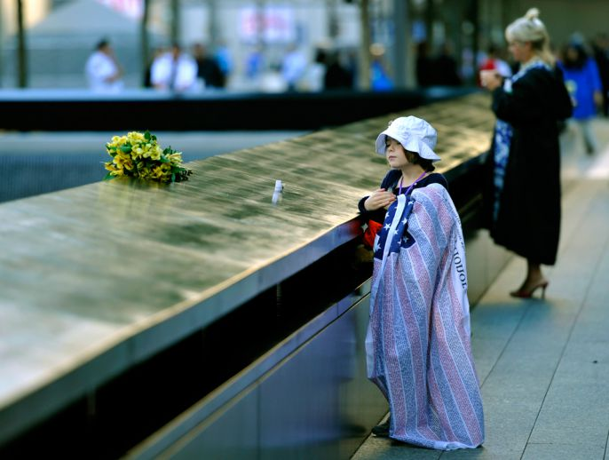 A little girl at ground zero