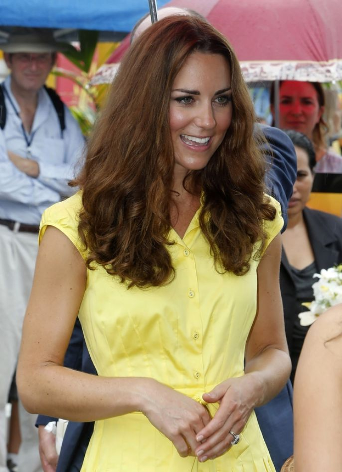 Kate Middleton Looking nice in a yellow dress