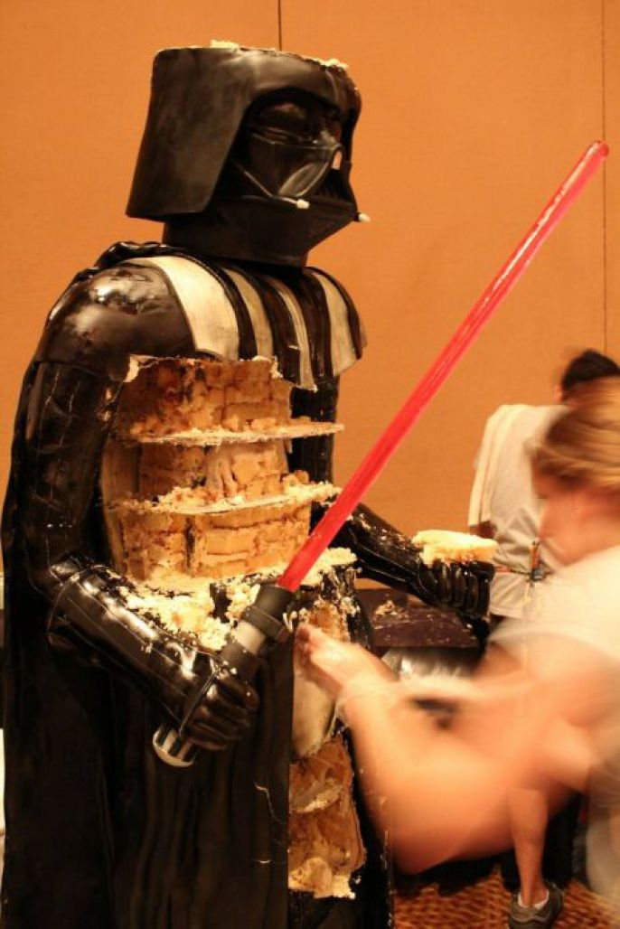 Eating Darth Vader