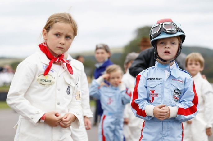 Goodwood Revival Kids get driving lessons