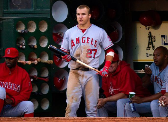 Mike Trout Getting Ready To Swing For The Fences