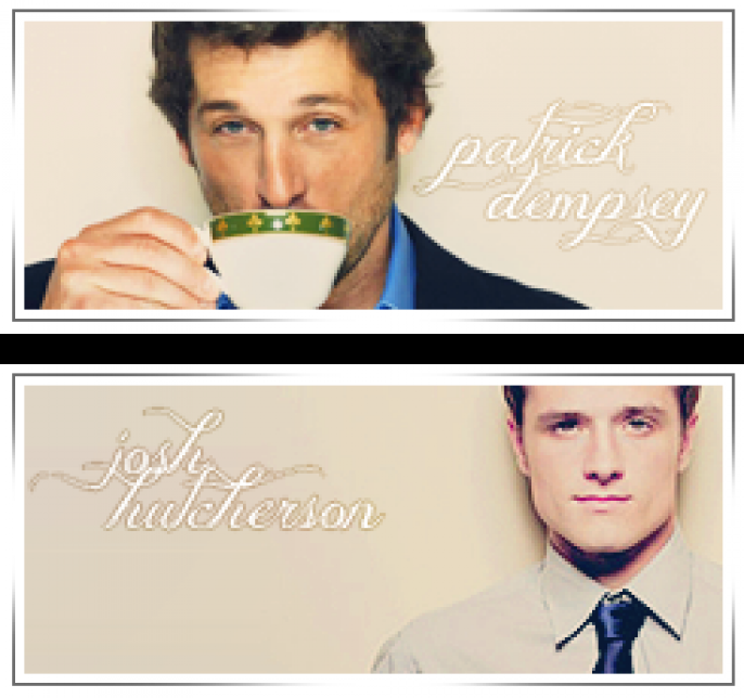 Josh Hutcherson  and Patrick Dempsey