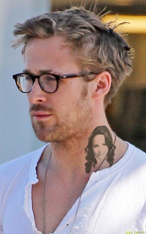 Ryan Gosling Neck Tattoo