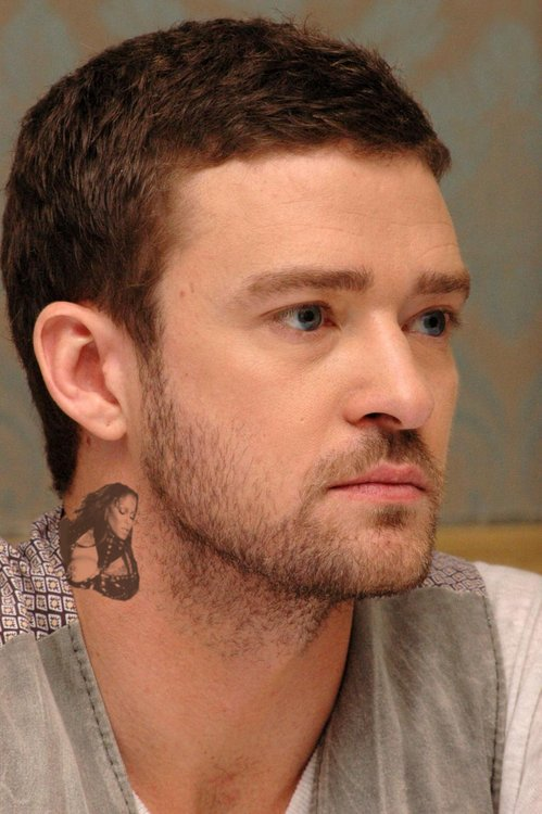 Justin Timberlake Neck tattoo