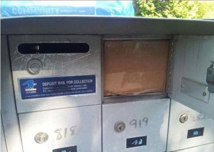 Stuffed Mail Box