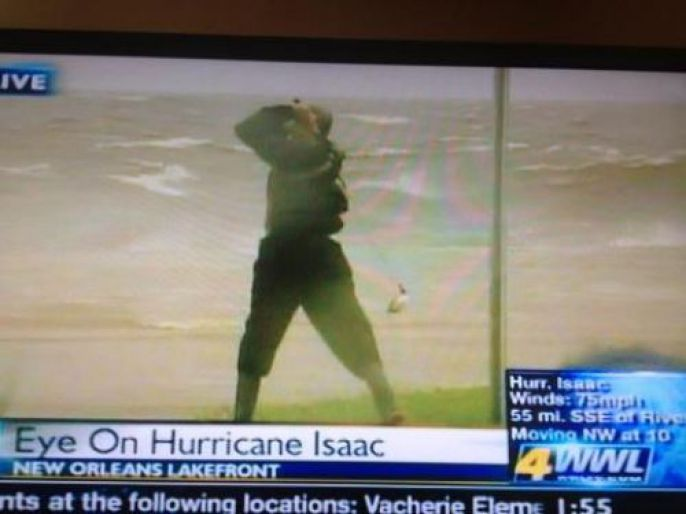 Golfing in a hurricane