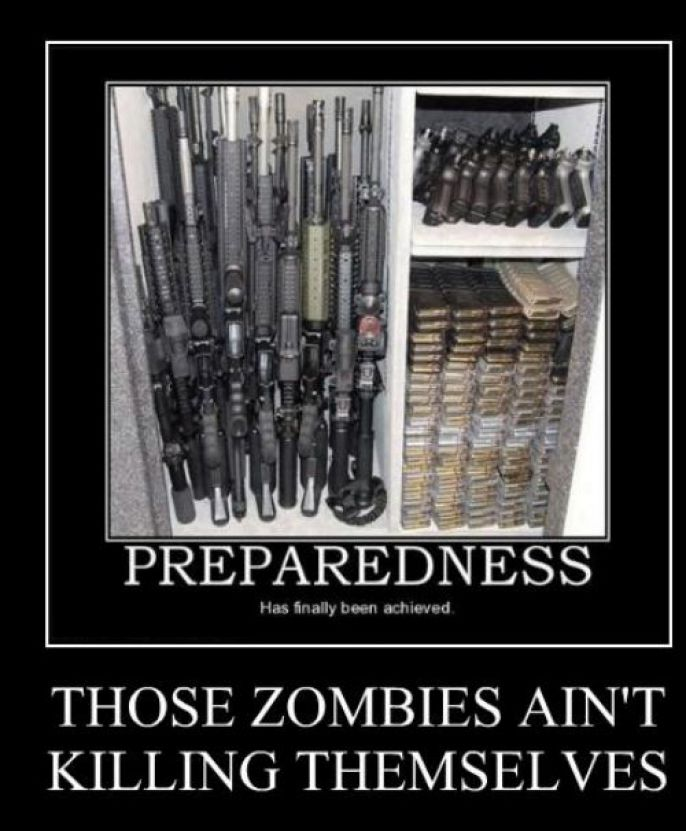 Be Prepared for zombie attacks