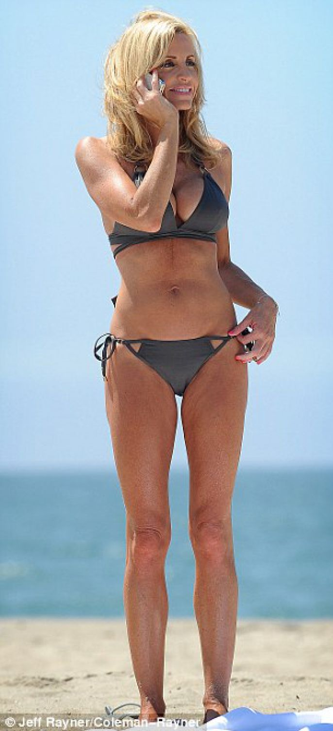 Camille Grammer Hits The Beach