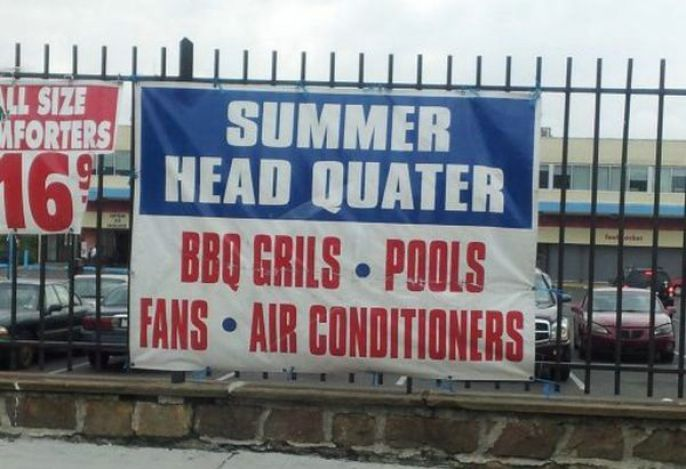 Summer Sign Fail
