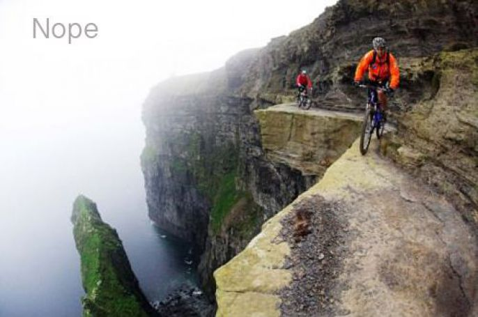 Cliff Bike Riding