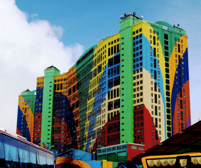 colorful city building