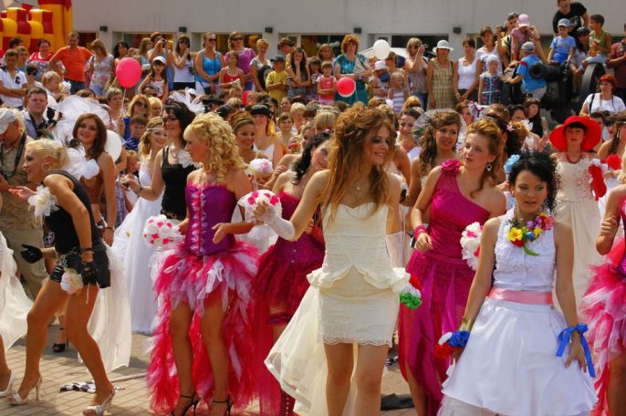 Brides Marching Together