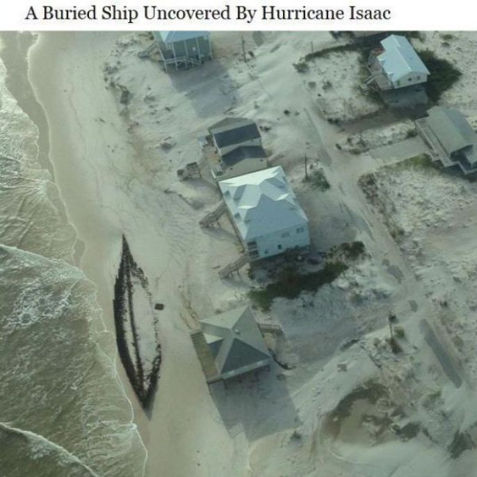 Buried Ship Uncovered