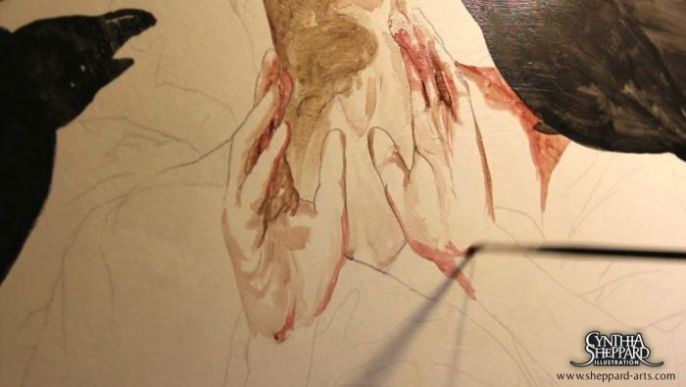 Coloring the hands