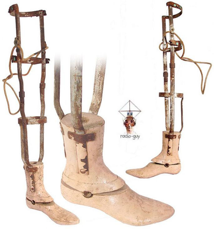 10. 19th century wooden prosthetic foot