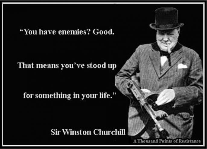 Winston Churchill On Enemies