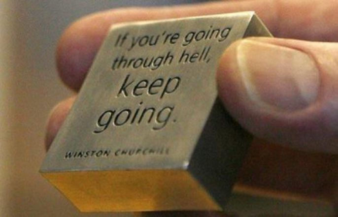 Winston Churchill Keep Going