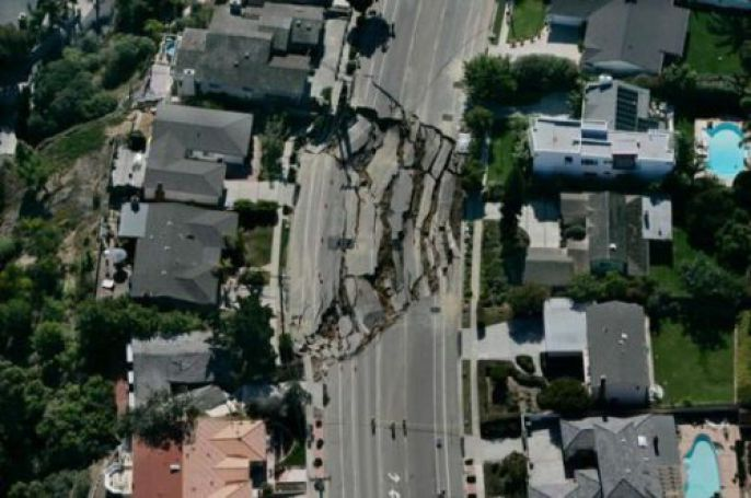 High View of Sinkhole