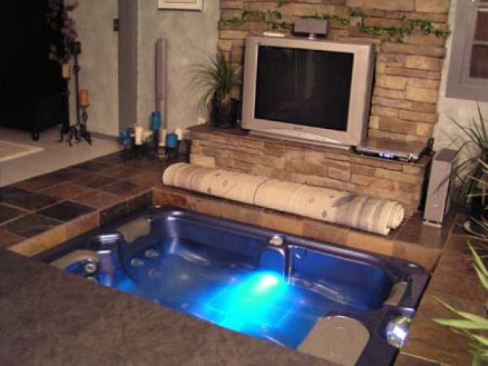 Awesome Hidden Floor Hot Tub