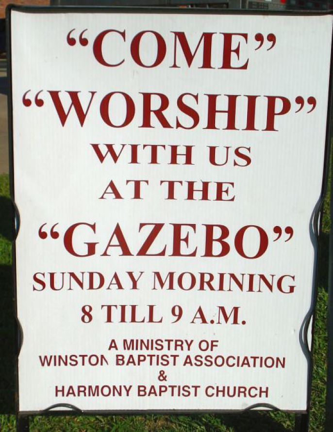Dumb Quotations  Come Worship Gazebo