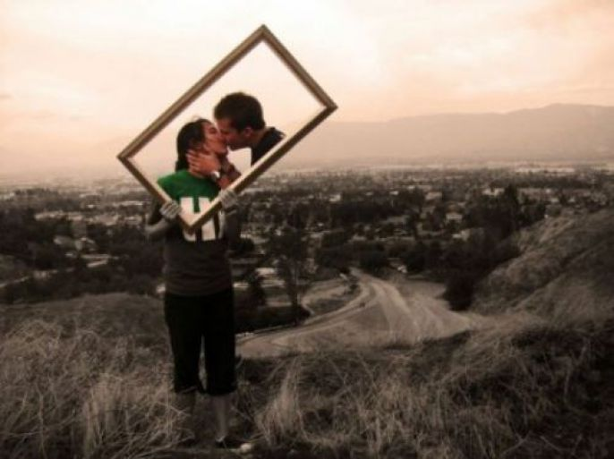 Incredible Artistic Couple Kissing
