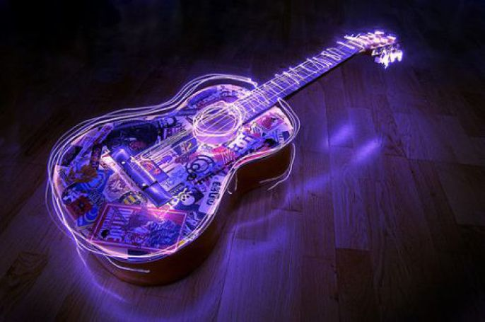 Incredible Neon Guitar
