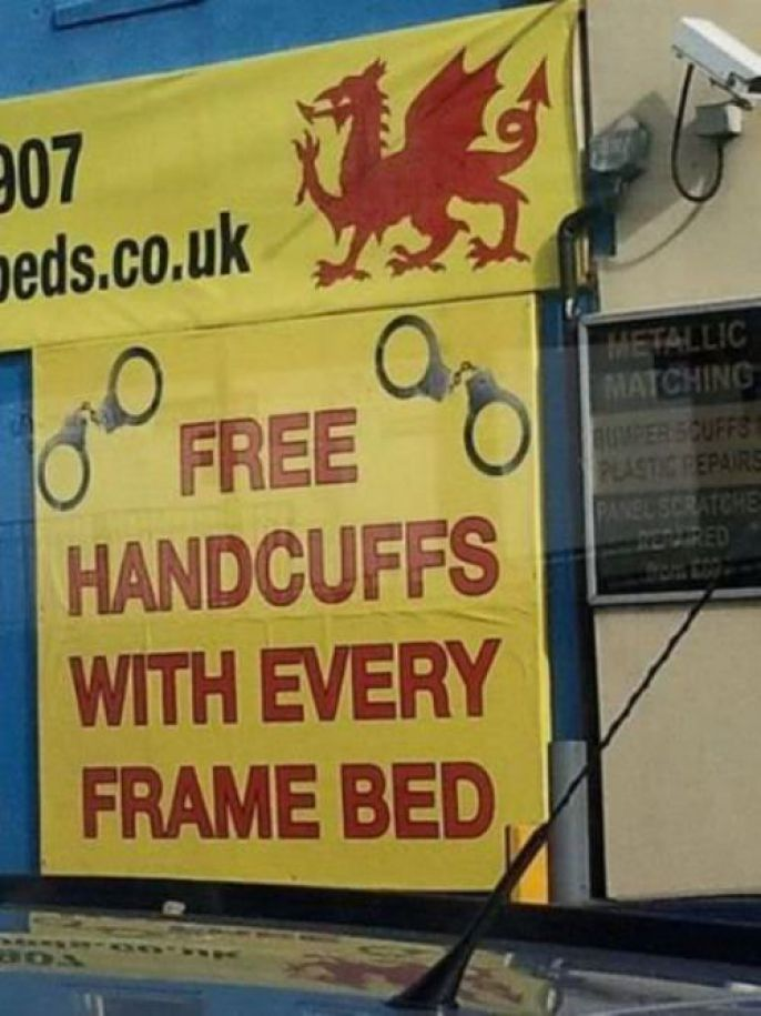 handcuffs and bed frames