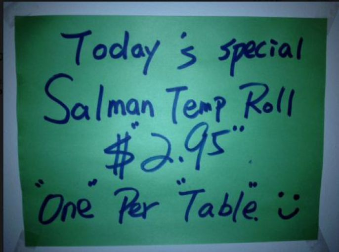 Special Roll, 1 Per Table
