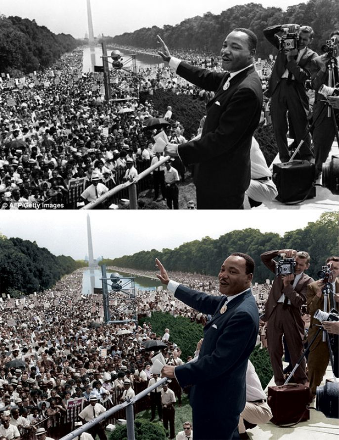 Martin Luther King photo restored