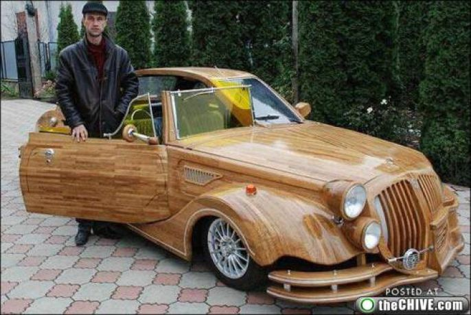 Wooden Panel Car Enhanced