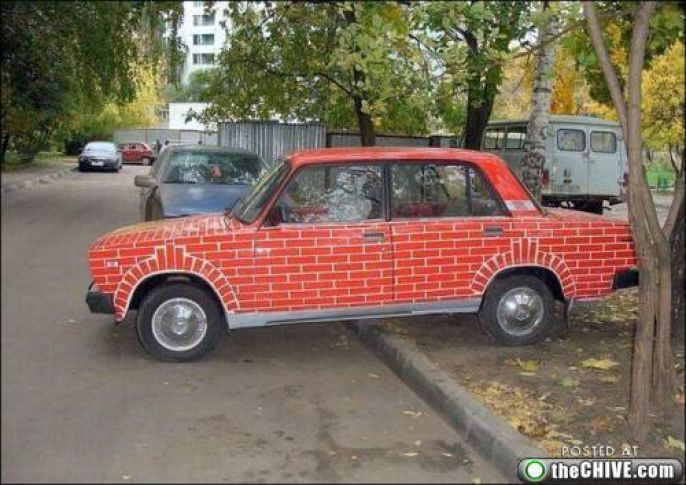 Amusing Brick Car
