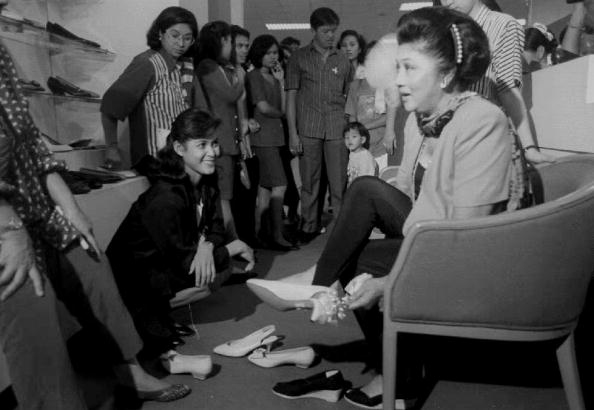 First Lady Imelda Marcos Loved Her Shoes