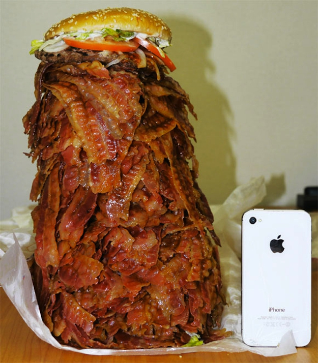 Giant Bacon Burger