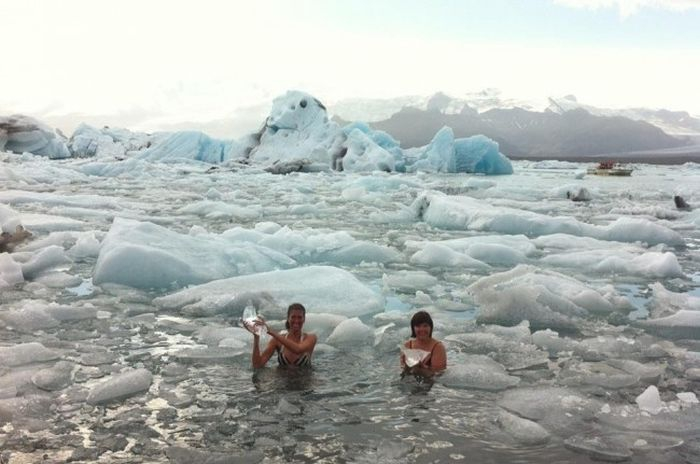 Awesome Ice Swimmers