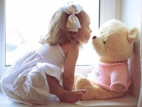 Girl Spending Time With Her Teddy Bear