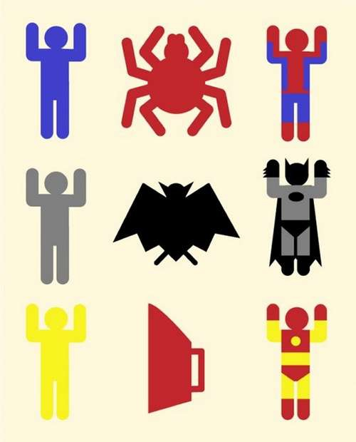 Batman, SpiderMan, Iron Man