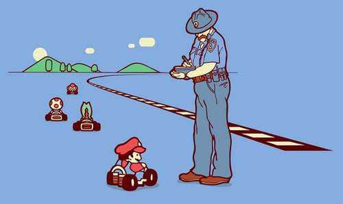Mario Kart Speeding Ticket