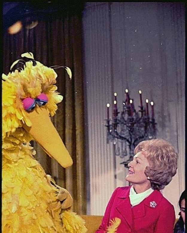 Pat Nixon and Big Bird (again)