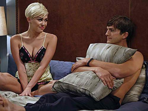 Miley Cyrus and Ashton Kutcher