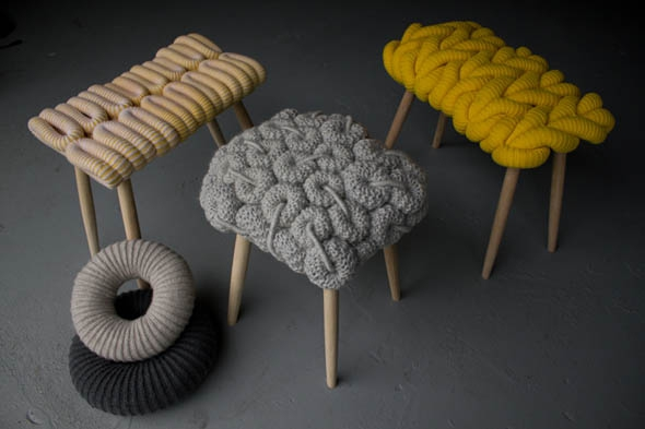 18. Knitted stools