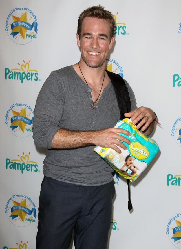 James Van Der Beek At Pampers