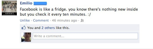 Facebook Fridge