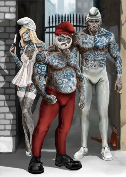 Grown Up Smurfs