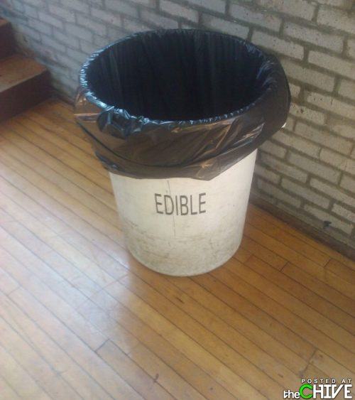 Edible Trash Bucket
