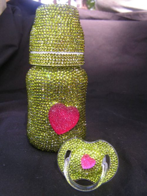 Bottle and Pacifier Bling Set
