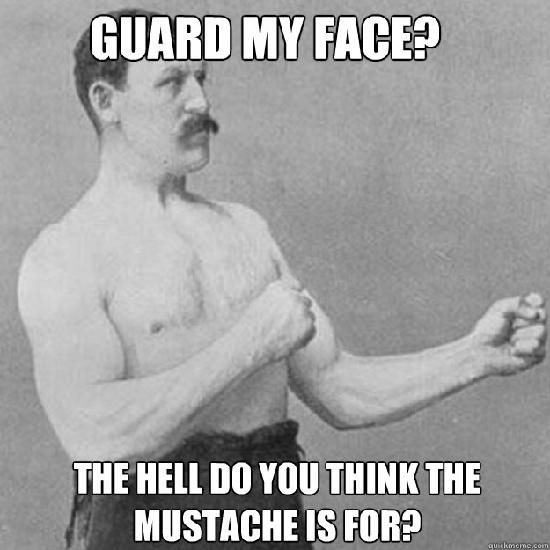 This Man is so Manly That His Moustache Has its own Fists!
