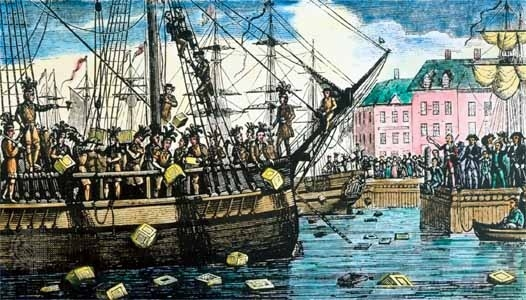 8. As a response to the heavy tea tax that Britain imposed on the colonies, Americans not only held the Boston Tea Party