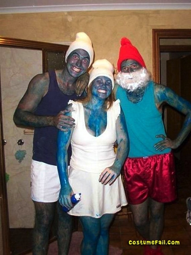 These Smurfs seem to be sporting blackface. Not cool.