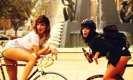 Hot chicks on bikes